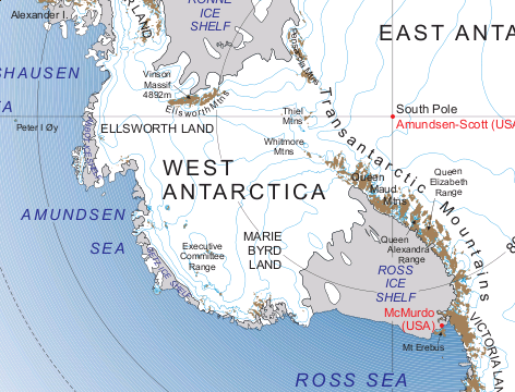 West Antarctica Map Transantarctic outlet glacier dynamics | michelle koutnik