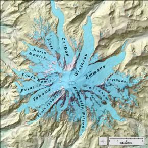 Mt. Rainier glaciers